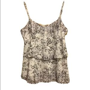 Cabi Style#272 Floral Tiered Sleeveless Top